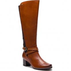 Kozaki CAPRICE - 9-25616-21 Cognac Comb 313. Brązowe buty zimowe damskie Caprice, z materiału, na obcasie. Za 549,90 zł.