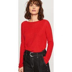Swetry klasyczne damskie: Sweter z lekkiej dzianiny – Czerwony