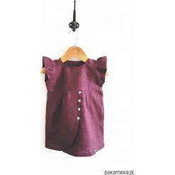 LEN sukienka berry. Brązowe sukienki niemowlęce marki Pakamera, ze lnu. Za 110,00 zł.