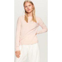 Sweter z wiązaniem z tyłu - Różowy. Czerwone swetry klasyczne damskie Reserved, l. Za 59,99 zł.