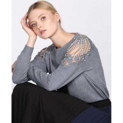 Swetry klasyczne damskie: Ciemnoszary Sweter Comply