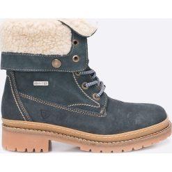 Tamaris - Botki. Szare buty zimowe damskie marki Tamaris, z materiału. W wyprzedaży za 239,90 zł.