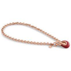 Naszyjniki damskie: Naszyjnik w kolorze różowozłotym – (D)43 cm