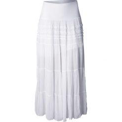Długa spódnica bonprix biały. Białe długie spódnice marki QUIOSQUE, s, z haftami, z tkaniny, dopasowane. Za 99,99 zł.