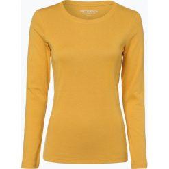 Brookshire - Damska koszulka z długim rękawem, żółty. Czarne t-shirty damskie marki brookshire, m, w paski, z dżerseju. Za 49,95 zł.