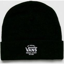 Vans - Czapka. Czarne czapki zimowe damskie marki Vans, na zimę, z dzianiny. W wyprzedaży za 99,90 zł.