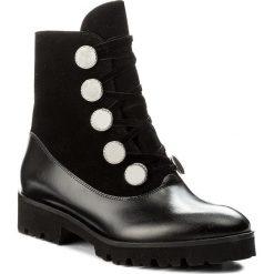 Botki EVA MINGE - Nita 2K 17BD1372200EF 701. Czarne buty zimowe damskie marki Eva Minge, z materiału, na obcasie. W wyprzedaży za 289,00 zł.