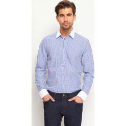 Koszule męskie na spinki: KOSZULA DŁUGI RĘKAW MĘSKA
