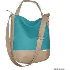Shopper bag damskie: sportowa torba listonoszka, worek na lato turkus