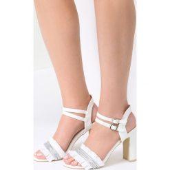 Białe Sandały Rapeseed. Białe sandały damskie marki vices, na wysokim obcasie. Za 79,99 zł.