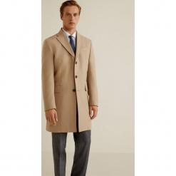 Mango Man - Płaszcz Arizona3. Brązowe płaszcze na zamek męskie marki Cropp, na zimę, l, sportowe. Za 449,90 zł.