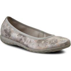 Baleriny CAPRICE - 9-22142-28 lt Grey Comb 208. Szare baleriny damskie zamszowe Caprice. W wyprzedaży za 169,00 zł.