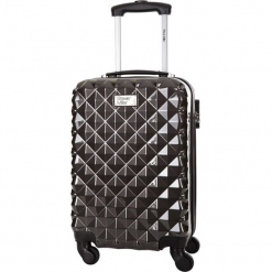 Walizka w kolorze antracytowym - 36 l. Szare walizki Bagstone & Travel One, z materiału. W wyprzedaży za 199,95 zł.