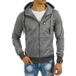 Bluzy męskie: Bluza męska z kapturem rozpinana szara (bx2260)