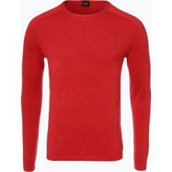 Swetry klasyczne męskie: BOSS Casual – Sweter męski – Amiroy, czerwony