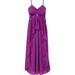 Sukienki hiszpanki: Długa sukienka bonprix fiołkowy