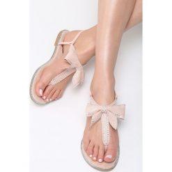 Sandały damskie: Różowe Sandały Silent Tide
