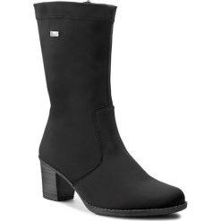 Kozaki RIEKER - Z7652-00 Black. Czarne buty zimowe damskie marki Rieker, z materiału. W wyprzedaży za 219,00 zł.