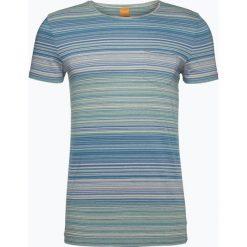 Odzież: BOSS Casual – T-shirt męski – Tedryk, niebieski