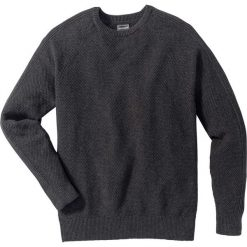 Swetry klasyczne męskie: Sweter Slim Fit bonprix antracytowy melanż
