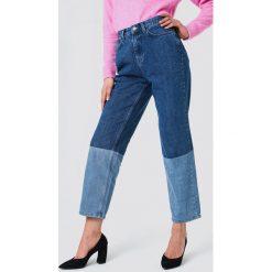 Spodnie damskie: NA-KD Trend Jeansy Blocking - Blue