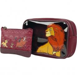 The Lion King Loungefly - Simba, Timon und Pumba Kosmetyczka bordowy. Czerwone kosmetyczki damskie The Lion King. Za 99,90 zł.