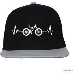 Czapka FullCap EKG FULL black/gray. Czarne czapki damskie Pakamera, z nadrukiem. Za 69,00 zł.