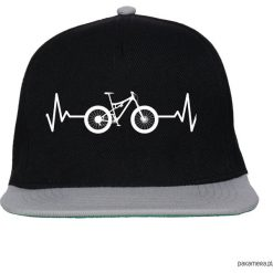 Czapki damskie: Czapka FullCap EKG FULL black/gray