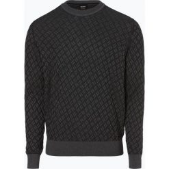 BOSS Casual - Sweter męski z dodatkiem jedwabiu – Kaban, szary. Szare swetry klasyczne męskie BOSS Casual, m, z materiału. Za 599,95 zł.