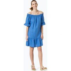 0039 Italy - Lniana sukienka damska – Marge Dress, niebieski. Niebieskie sukienki z falbanami marki Reserved, z odkrytymi ramionami. Za 649,95 zł.