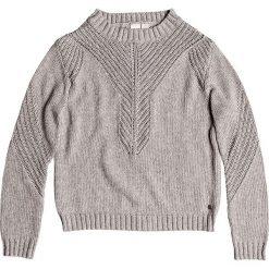 """Sweter """"Takeovertheworld"""" w kolorze szarym. Szare swetry klasyczne damskie marki Roxy, l, ze splotem, z dekoltem na plecach. W wyprzedaży za 173,95 zł."""