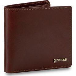 Duży Portfel Męski GINO ROSSI - AFV364-01S-PL00-3300-X Brązowy. Czarne portfele męskie marki Gino Rossi, ze skóry. W wyprzedaży za 249,00 zł.