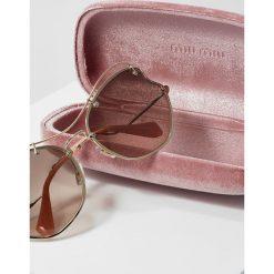 Okulary przeciwsłoneczne damskie: Miu Miu Okulary przeciwsłoneczne pale gold