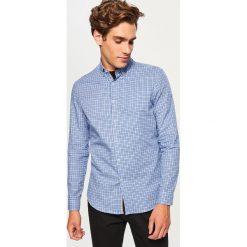 Koszula w kratkę slim fit - Niebieski. Niebieskie koszule męskie slim marki QUECHUA, m, z elastanu. Za 69,99 zł.