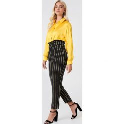 Paski damskie: Trendyol Spodnie w paski – Navy