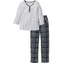 Piżama bonprix jasnoszary melanż w kratę. Szare piżamy damskie bonprix, melanż. Za 49,99 zł.
