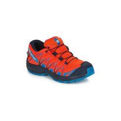 Buty Dziecko Salomon  XA PRO 3D CSWP J. Czarne buty sportowe chłopięce marki Salomon, z gore-texu, na sznurówki, outdoorowe, gore-tex. Za 329,00 zł.