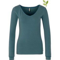 """Bluzki asymetryczne: Koszulka """"Malena"""" w kolorze niebieskim"""