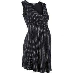 Bielizna ciążowa: Koszula nocna do karmienia z wiskozy bonprix czarny w kropki