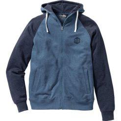 Bluza rozpinana Slim Fit bonprix niebiesko-ciemnoniebieski melanż. Czerwone bluzy męskie rozpinane marki KALENJI, m, z elastanu, z długim rękawem, długie. Za 79,99 zł.
