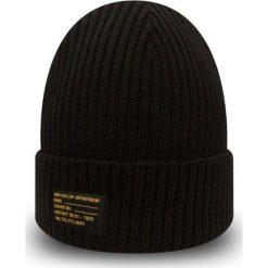 New Era - Czapka. Czarne czapki zimowe męskie New Era, z dzianiny. Za 119,90 zł.