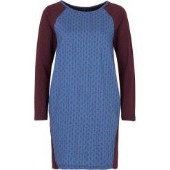 """Sukienki hiszpanki: Lniana sukienka """"Daniela"""" w kolorze ciemnofioletowo-niebieskim"""