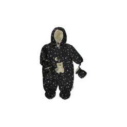 Little  Kombinezon zimowy Księżyc i Gwiazdki - czarny - Gr.Niemowlę (0 - 6 miesięcy). Czarne kombinezony niemowlęce Little, na zimę, z materiału. Za 129,00 zł.