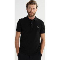 Lacoste SHORTSLEEVE SLIM FIT Koszulka polo black. Szare koszulki polo marki Lacoste, z bawełny. Za 399,00 zł.