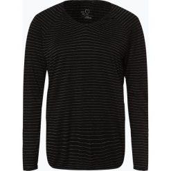 S.Oliver Casual - Damska koszulka z długim rękawem, czarny. Czarne t-shirty damskie s.Oliver Casual, s, w prążki. Za 99,95 zł.