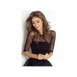 Bluzka Megan. Czarne bluzki z odkrytymi ramionami marki Wow fashion, xl, z tkaniny. Za 129,00 zł.