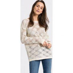 Trussardi Jeans - Sweter. Szare swetry klasyczne damskie marki Trussardi Jeans, m, z bawełny, z okrągłym kołnierzem. W wyprzedaży za 379,90 zł.