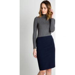 Ołówkowa spódnica w kolorze granatowym BIALCON. Białe minispódniczki BIALCON, uniwersalny, eleganckie, koszulowe. Za 155,00 zł.