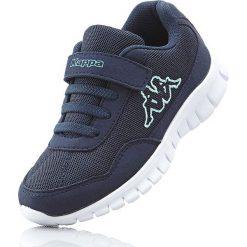 Sneakersy Kappa bonprix ciemnoniebiesko-miętowy. Niebieskie buty sportowe chłopięce bonprix, z materiału. Za 89,99 zł.