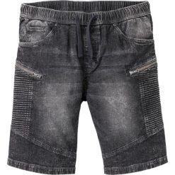 Spodenki i szorty męskie: Bermudy dżinsowe z gumką w talii Regular Fit bonprix szary denim